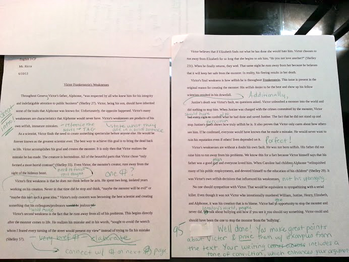contraction writing essay